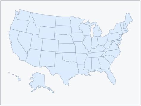 Maps: Usa Map Template